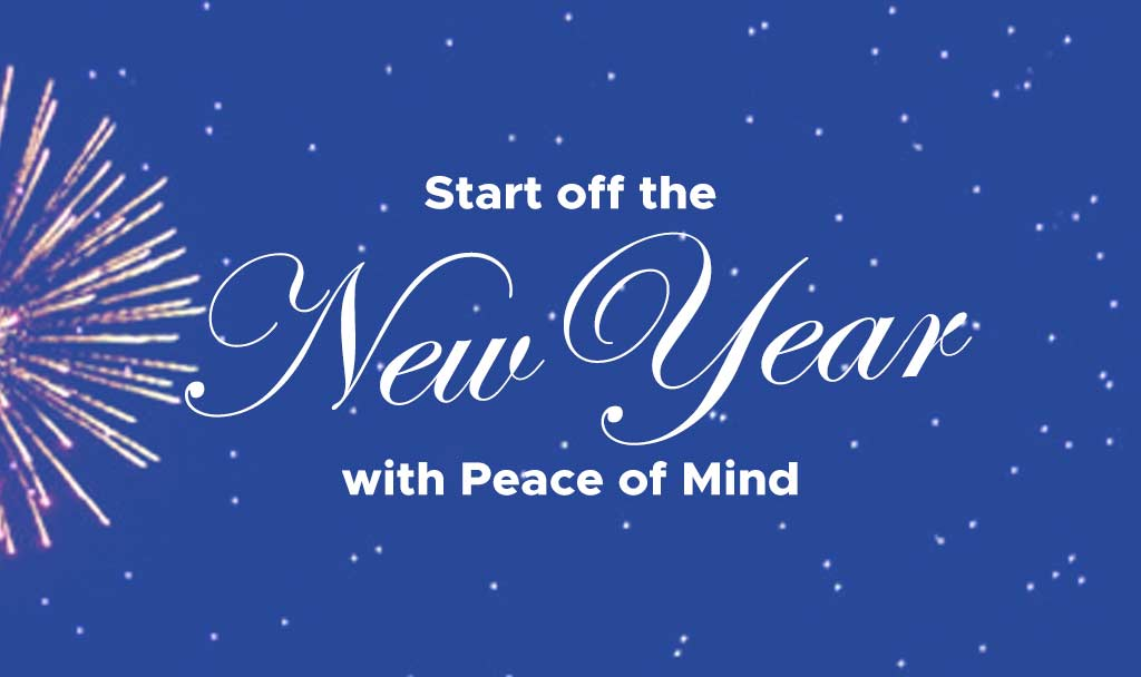 Start off the New Year with Peace of Mind